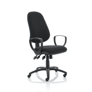 Eclipse XL Lever Task Operator Chair Black With Loop Arms
