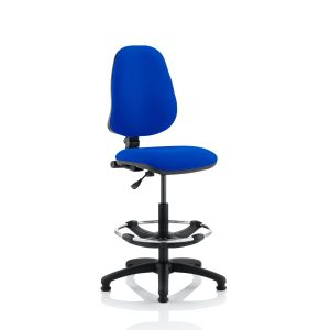 Eclipse I Lever Task Operator Chair Blue With Hi Rise Draughtsman Kit