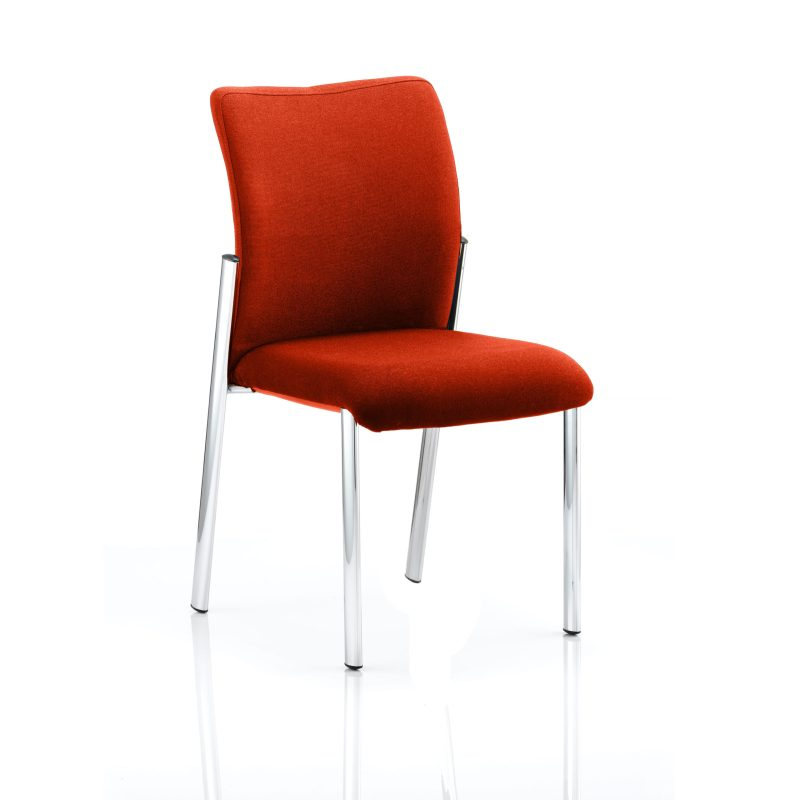 Academy Bespoke Colour Fabric Back With Bespoke Colour Seat Without Arms Tabasco Red