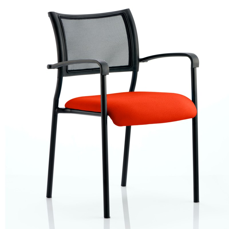 Brunswick Bespoke Colour Seat Black Frame Tabasco Red