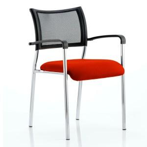 Brunswick Bespoke Colour Seat Chrome Frame Tabasco Red