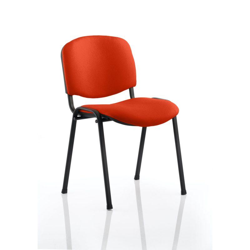 ISO Black Frame Bespoke Colour Fabric - (Min Order Qty X 4) Tabasco Red