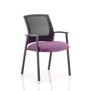 Metro Visitor Chair Bespoke Colour Seat Tansy Purple