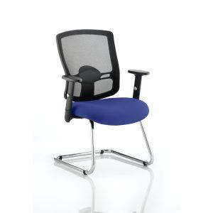 Portland Cantilever Bespoke Colour Seat Stevia Blue