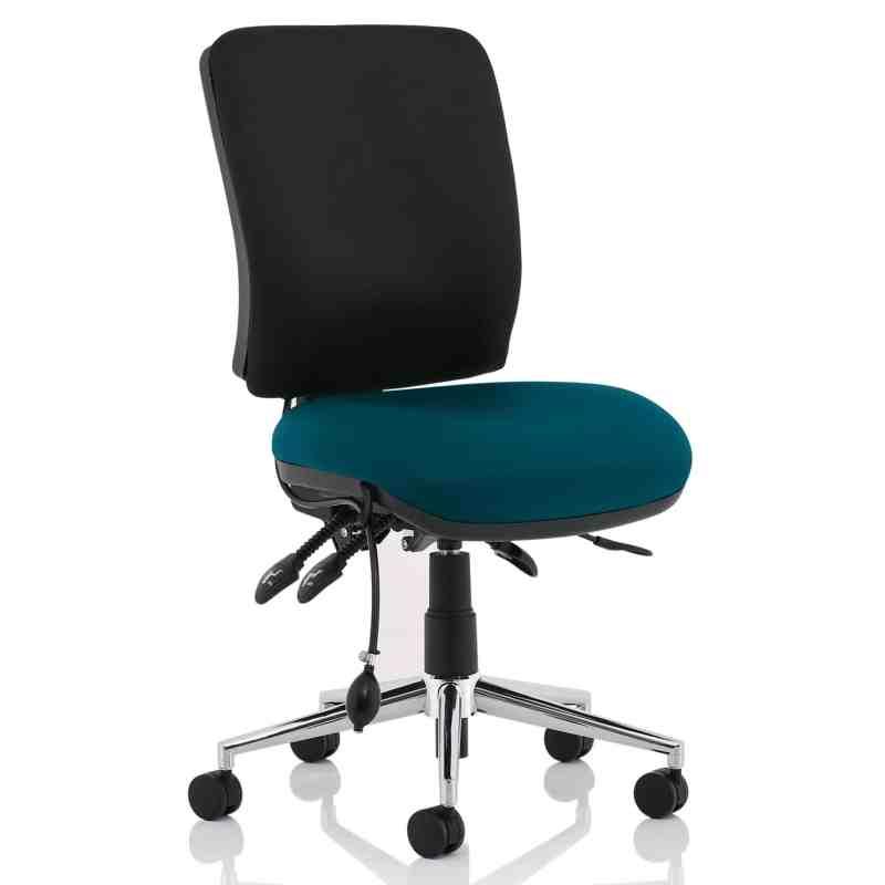 Chiro Medium Back Bespoke Colour Seat Maringa Teal No Arms