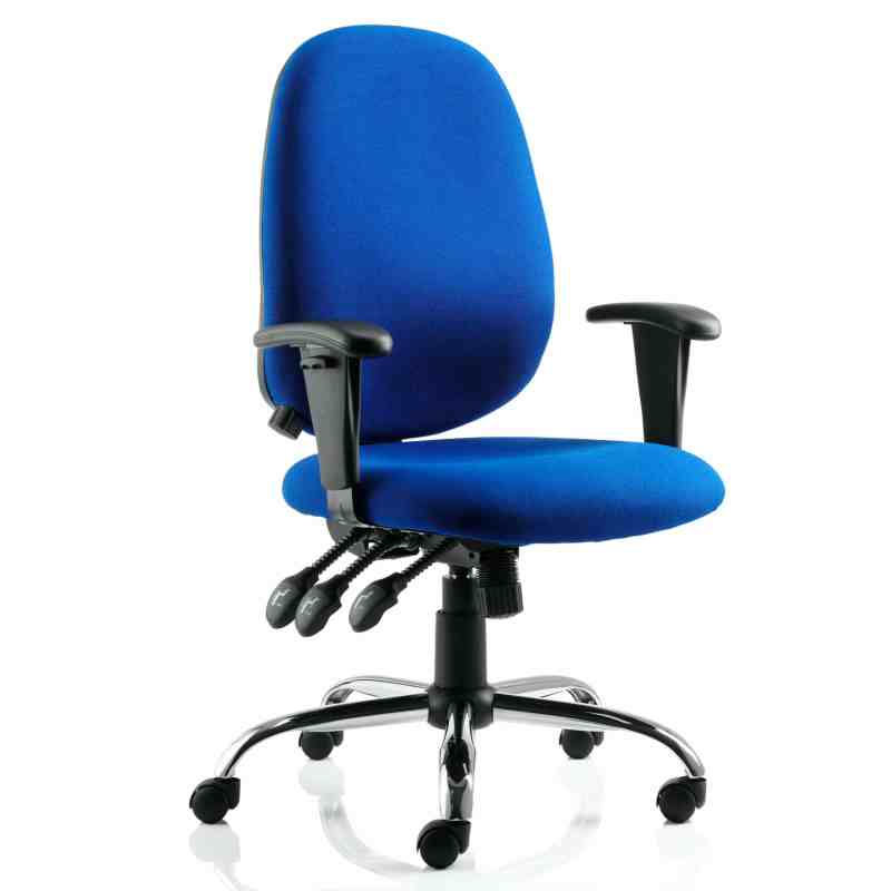Lisbon Task Operator Chair Black Fabric With Arms