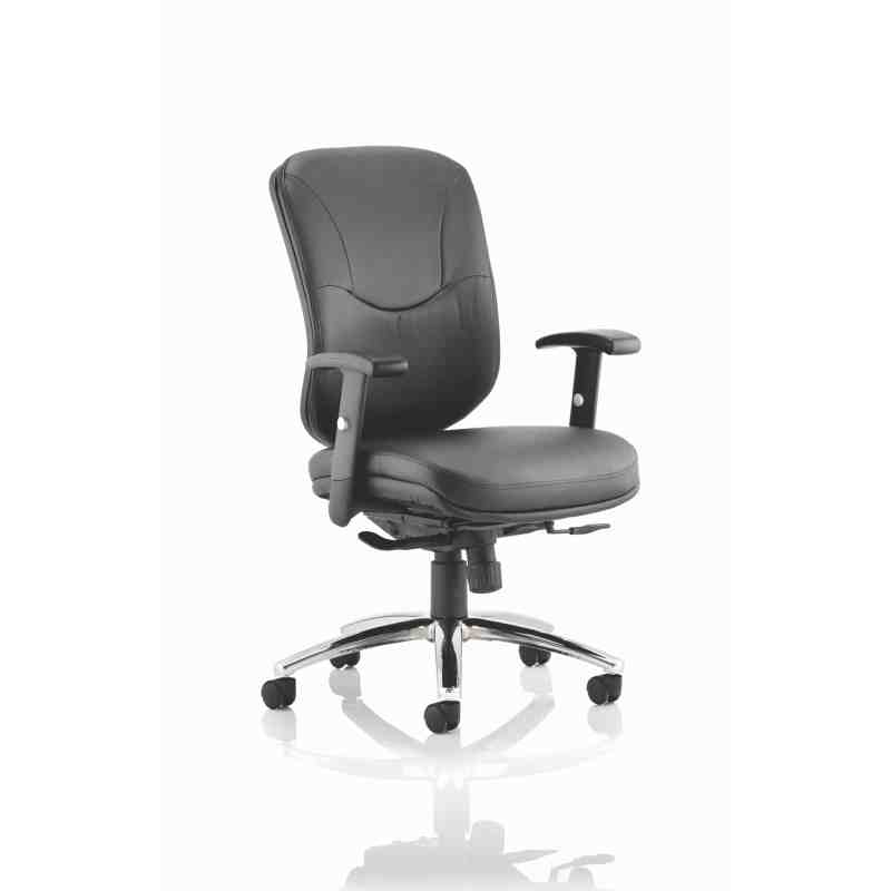 Mirage II Executive Chair Black Leather With Arms Without Headrest