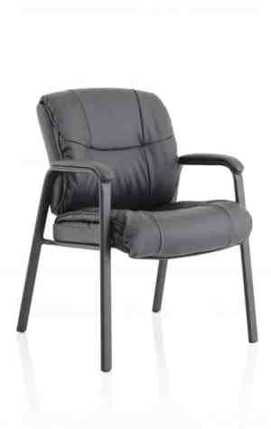 Heath Black Leather Chair