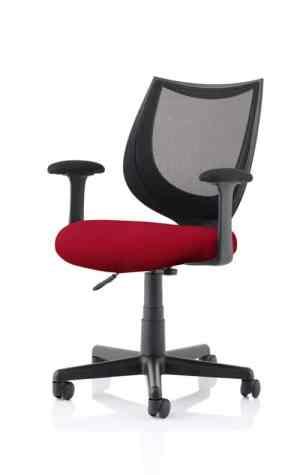 Camden Black Mesh Chair in Ginseng Chilli