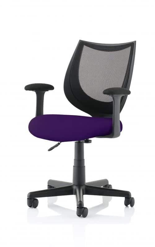 Camden Black Mesh Chair in Tansy Purple