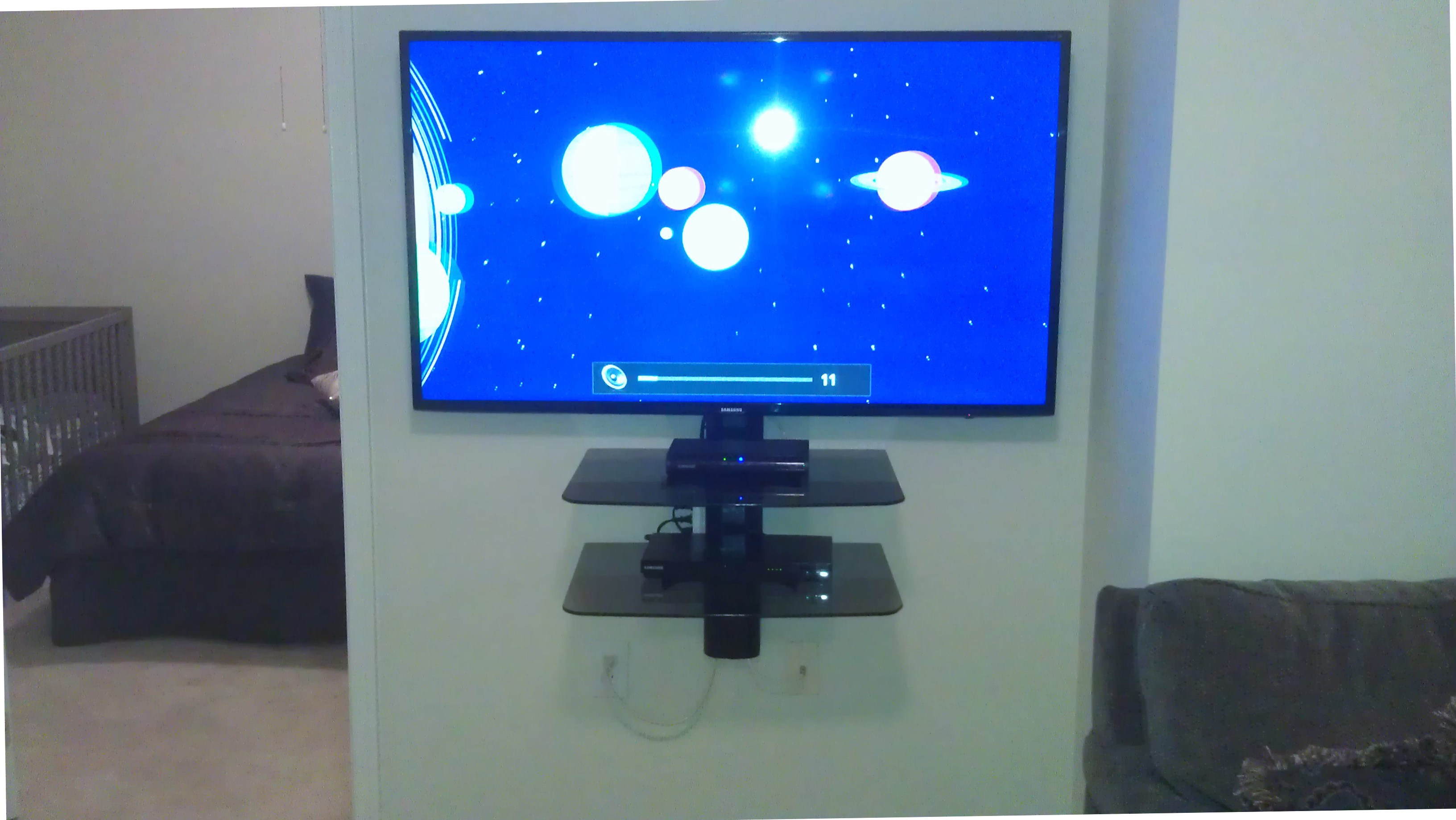 bedroom tv mounting ideas