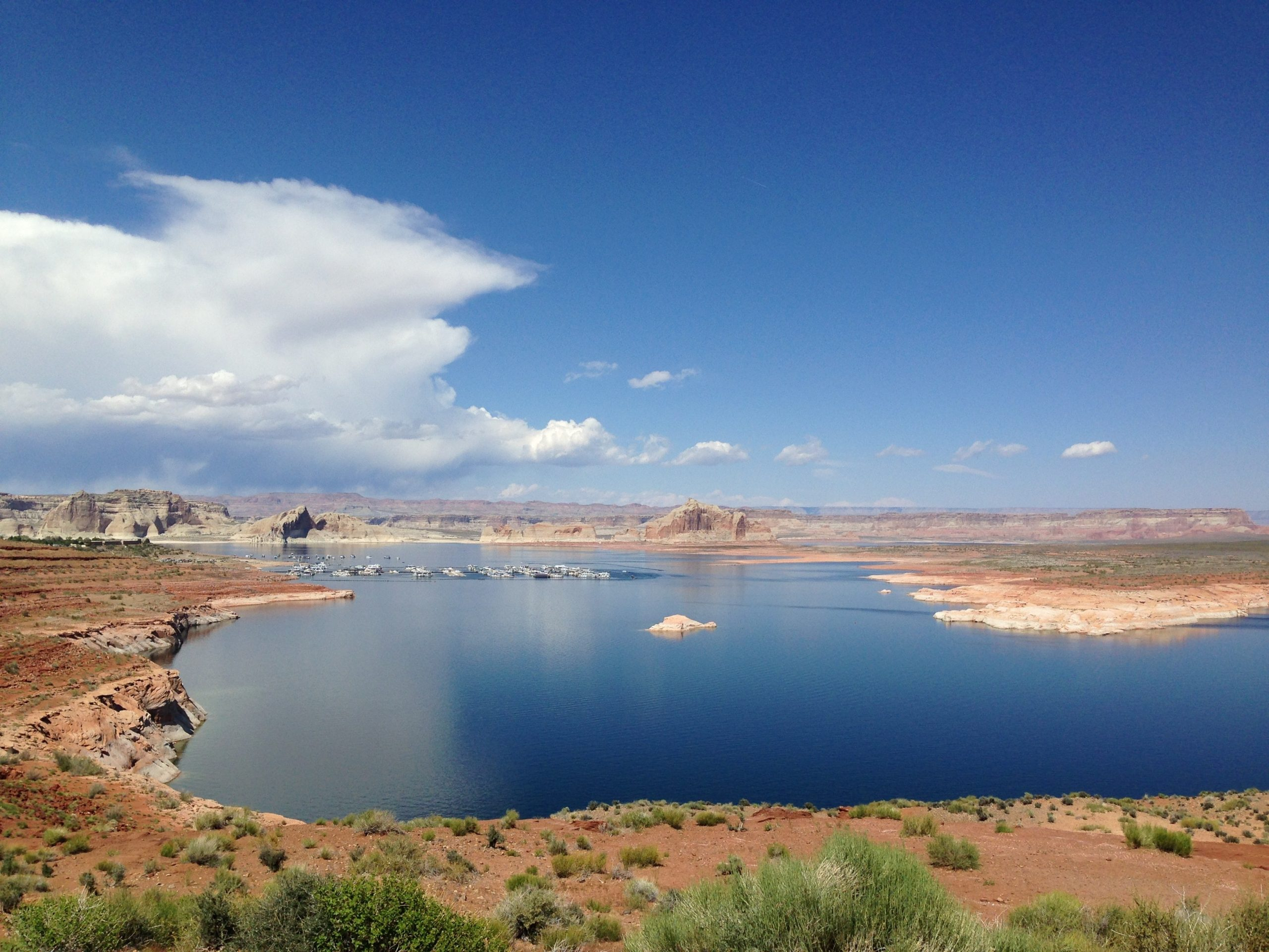 View of Lake Powell in Page AZ