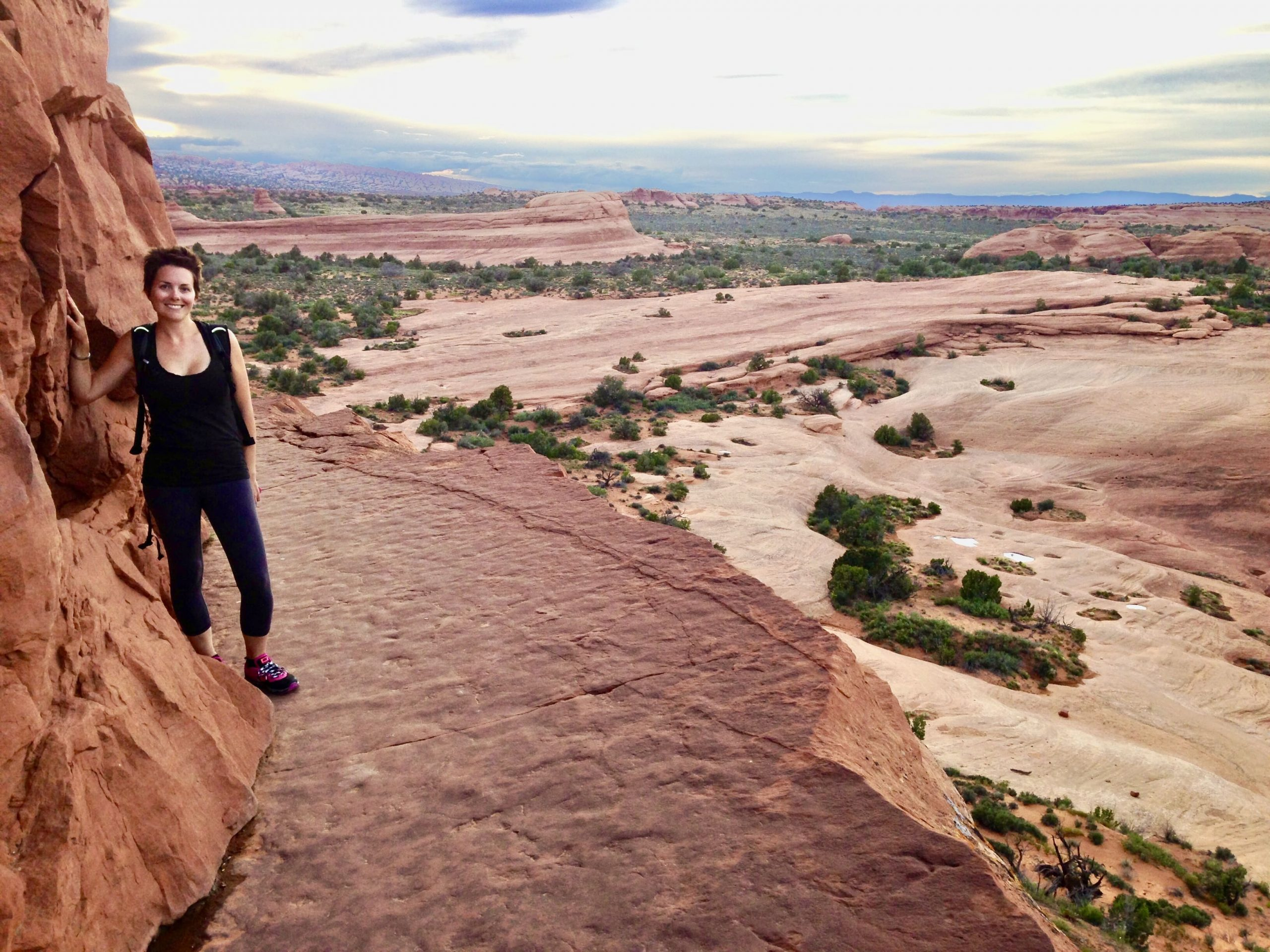 Hiking to Delicate Arch at Arches National Park on Utah National Parks Road Trip