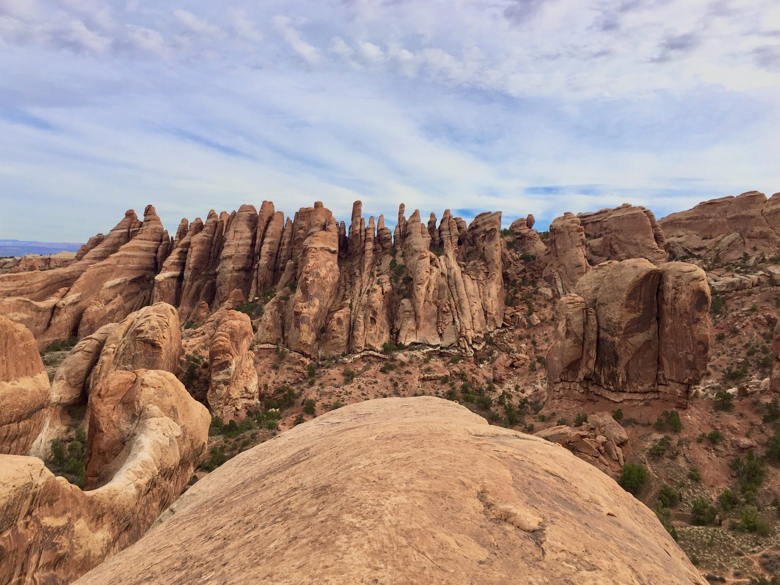 View from the Devils Garden Primitive Trail in Arches National Park