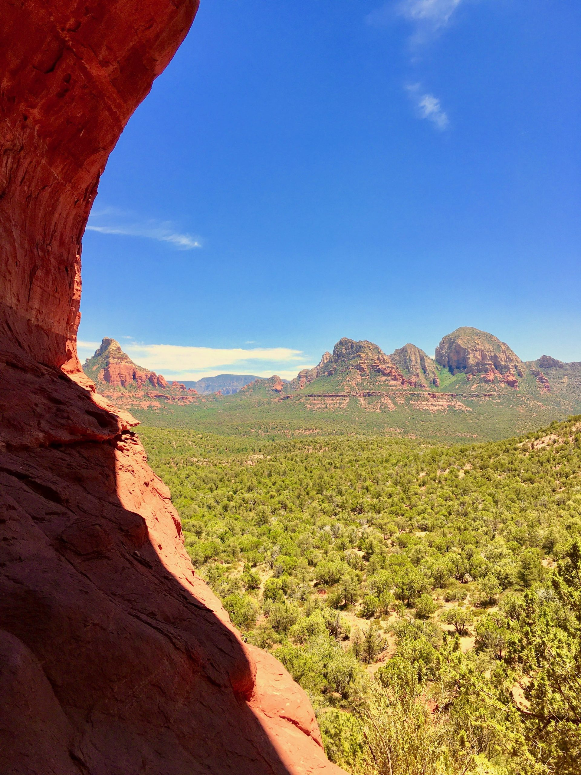 The Birthing Cave View of Sedona