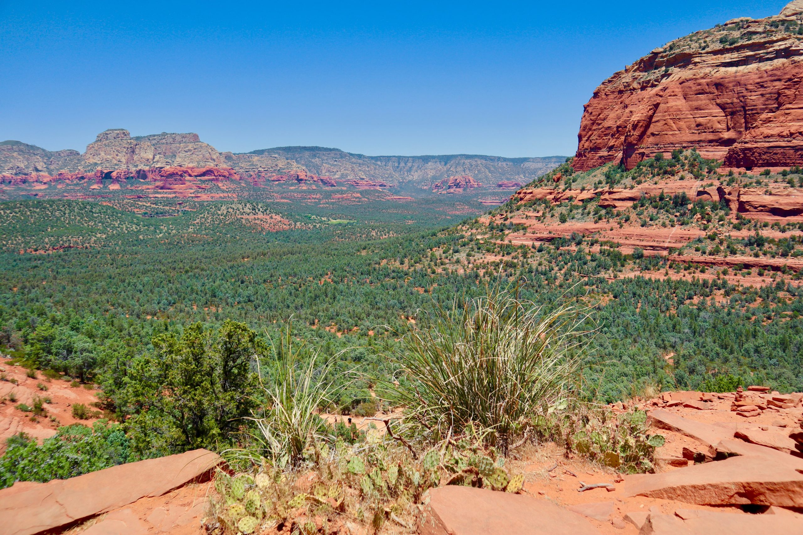 View from Devil's Bridge in Sedona, AZ