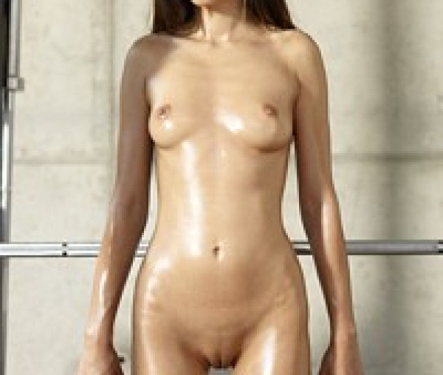 Sexy And Petite Brunette Nikola Works Out Nude