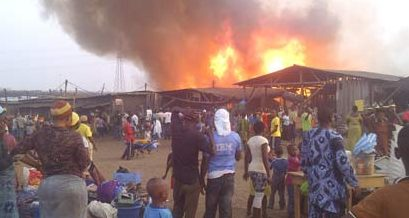 Fire razes 100 shops at plank market