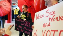 'We're sex workers and we vote': Women's March event shines light on a marginalized group