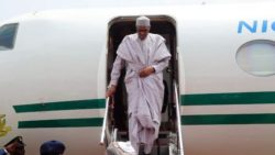Buhari returns to Abuja from London