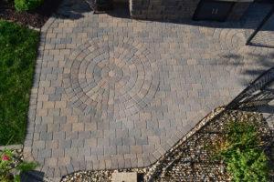 Paver Patio Circle Stone