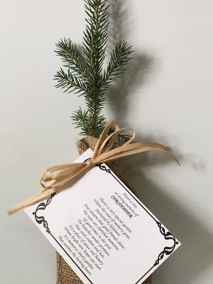 Remembrance Tree Seedlings In Burlap Personalized