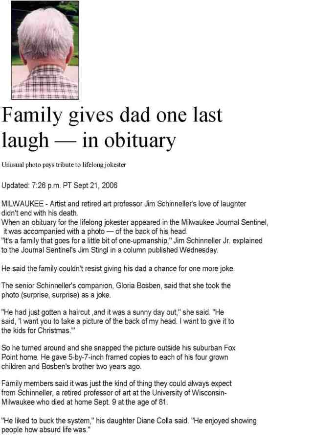 Obituary examples, sample obituary. Make it unique with these