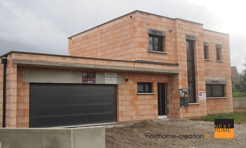 Maison contemporaine  toit plat et garage accol HautRhin  Nexthome Cration