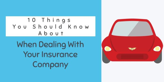 10 Tips on dealing with your insurance company