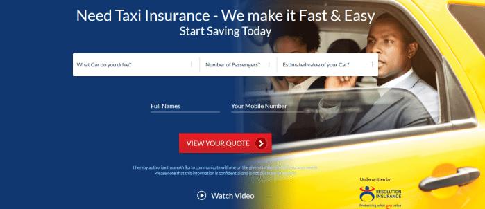 Taxi Insurance Kenya