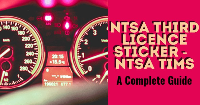 NTSA Third Licence Inspection Sticker, NTSA TIMS Kenya