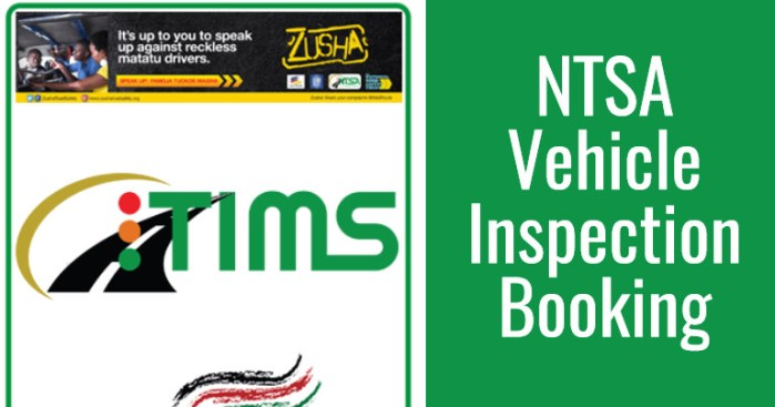 NTSA Inspection Booking Requirements Procedure