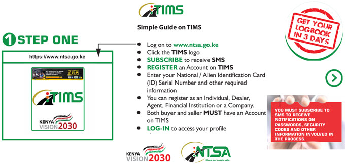 NTSA TIMS registration procedure