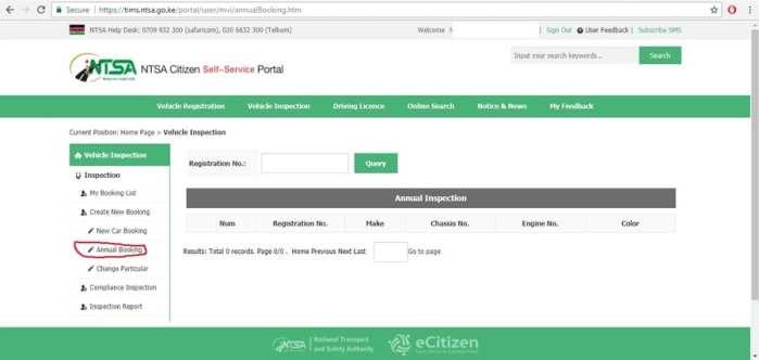 New Car Booking ntsa inspection check