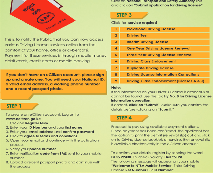 How to Get Digital Driving License in Kenya