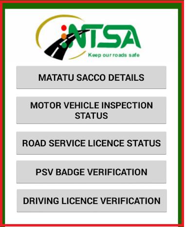ntsa document verification kenya