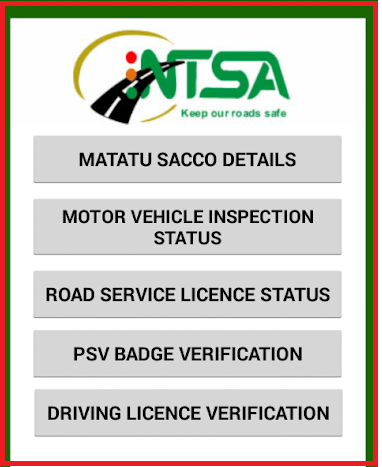 ntsa document verification kenya