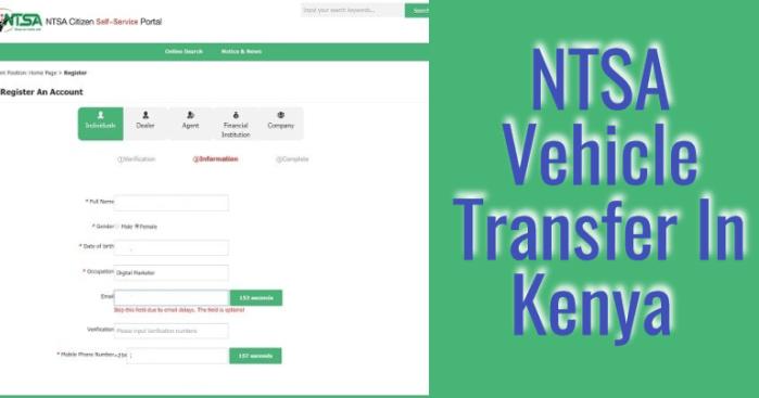 ntsa vehicle transfer form procedure fees kenya