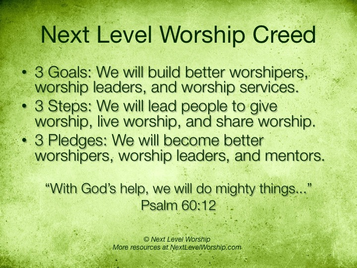 worship ministry creed