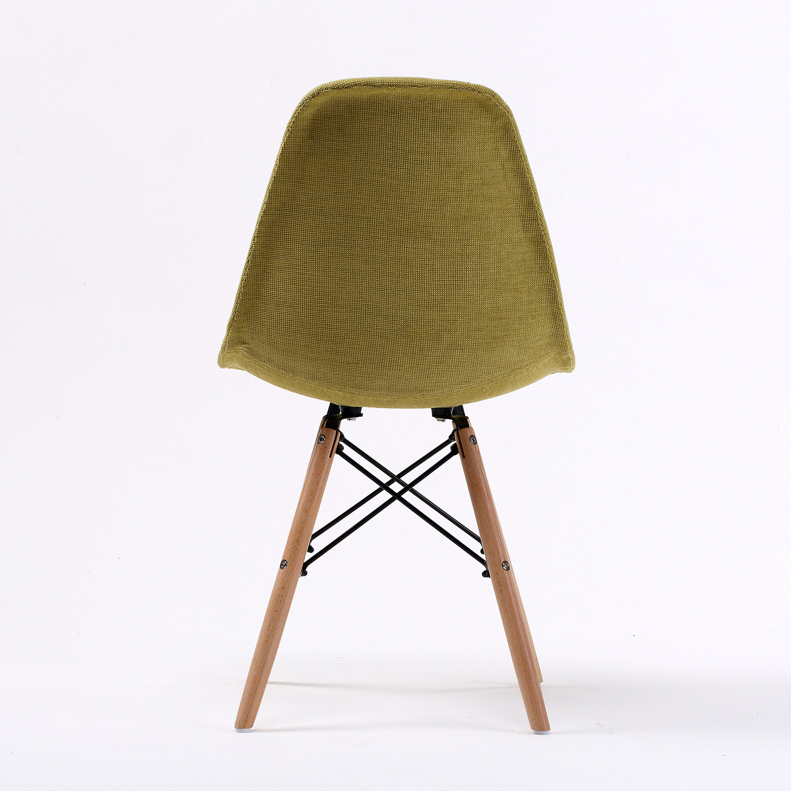 eiffel dining chair with beech legs lazy boy lift 2 x retro replica eames dsw fabric