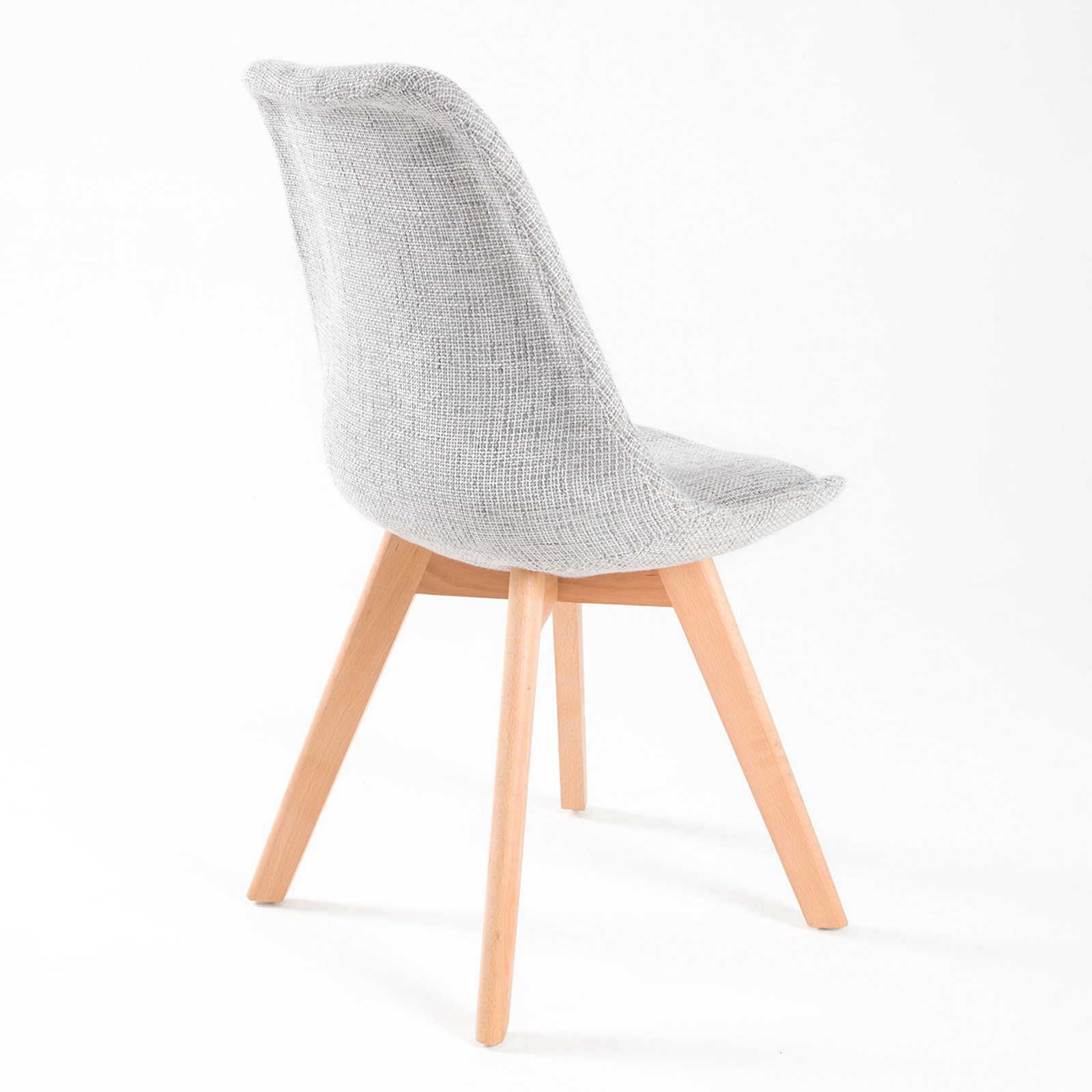eiffel dining chair with beech legs swing dubizzle 4 x retro replica eames fabric padded dsw