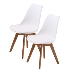 Eiffel Dining Chair With Beech Legs Gold Covers On Sale 2 X Retro Replica Eames Pu Padded Dsw