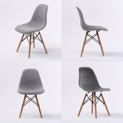 Eiffel Dining Chair With Beech Legs Covers Sashes For Rent 4 X Retro Replica Eames Dsw Fabric