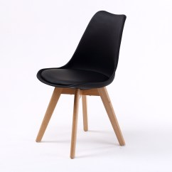 Eiffel Dining Chair With Beech Legs Cheap Tables And Chairs For Sale 4 X Retro Replica Eames Pu Padded Dsw