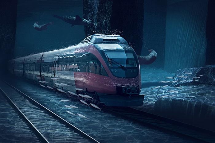 Under Water Bullet Train