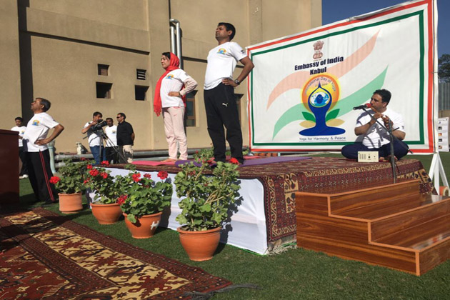 The 2nd International Yoga Day celebrated in Afghanistan