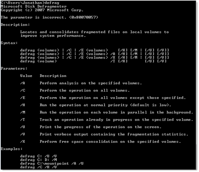 052809 1823 whatisdefra21 - What is defragmentation How to defrag in Windows 7 using command line