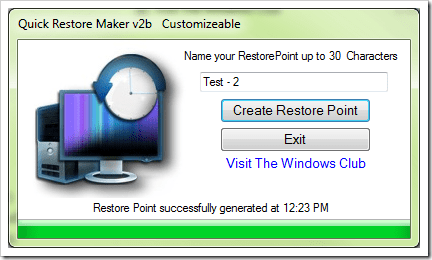 how to set a restore point