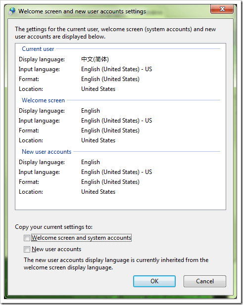 how to set default language in windows 7