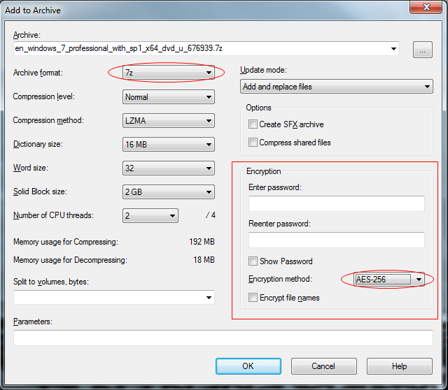 how to create a compressed folder in windows 7